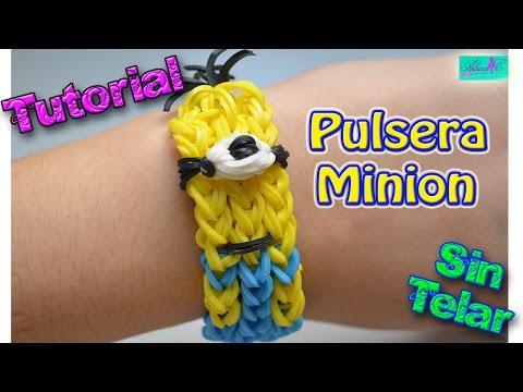 ♥ Tutorial: Pulsera Minion (sin telar) ♥