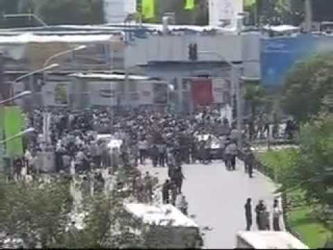 17 July 2009 Vali Asr St Tehran Post friday prayer protest