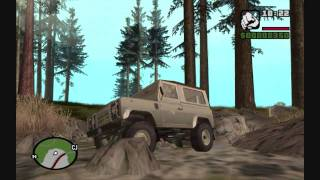 GTA San Andreas Real Cars Off Road Land Rover Defender 90