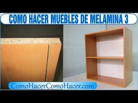 bricolage como hacer muebles laminados de melamina 3