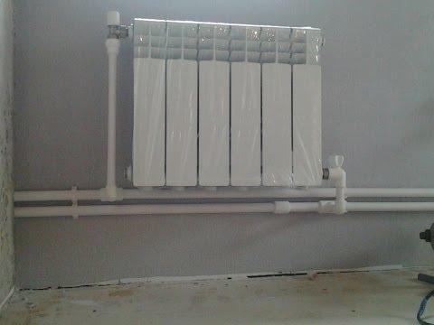 Установка радиаторов отопления в доме своими руками