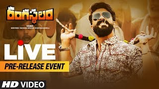 Rangasthalam Pre Release Event LIVE | Ram Charan | Samantha | Aadhi | Sukumar | DSP