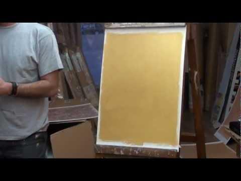 Demostraci n de c mo se hace el efecto metalizado con for Pintura dorada para pared