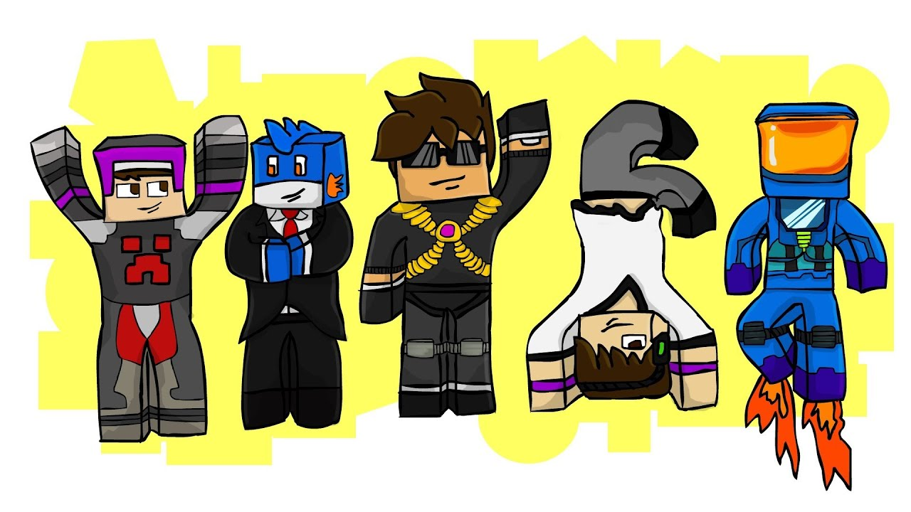 Minecraft skydoesminecraft and friends