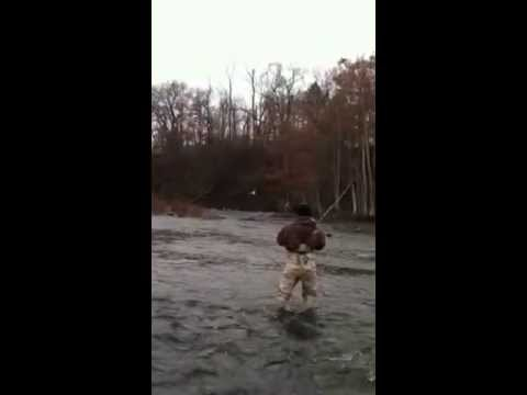 Steelhead Fishing Pulaski, NY 11/04/12