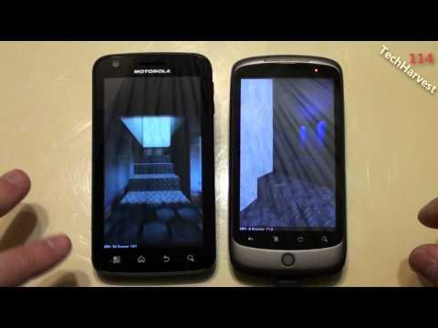 Motorola ATRIX (Froyo) vs HTC Nexus One (Gingerbread): Benchmarks