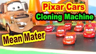 Pixar Cars Cloning Machine with Lightning McQueen Mater and More Kids Toys Race Cars