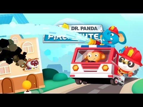 Доктор Панда пожарник. Пожарный мультфильм. Пожарная машина мультфильм Доктор Панда спешит на помощь