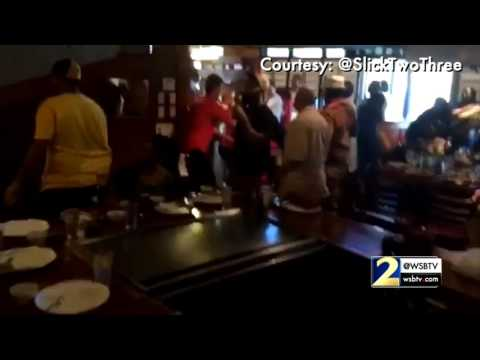 RAW: Brawl breaks out at Atlanta restaurant on Mother's Day
