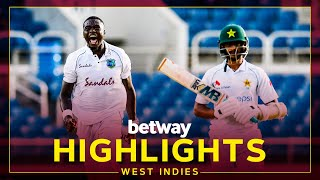 Highlights   West Indies v Pakistan   1st Test Day 1   Betway Test Series presented by Osaka