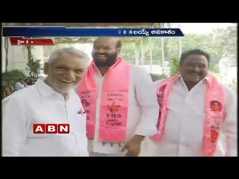 CM KCR meets TRS candidates in Pragathi Bhavan | ABN Telugu