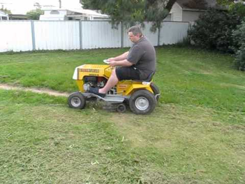 Greenfield Ride On Mower Tractor 11 30 First Mow After