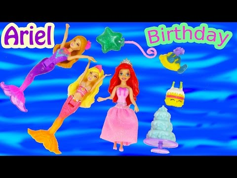 Disney The Little Mermaid Princess Ariel Brithday Party Play-doh Doll Kingdom Playset