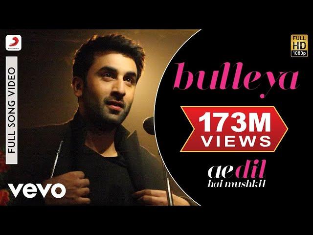 Bulleya - Full Song   Ae Dil Hai Mushkil   Ranbir   Aishwarya thumbnail