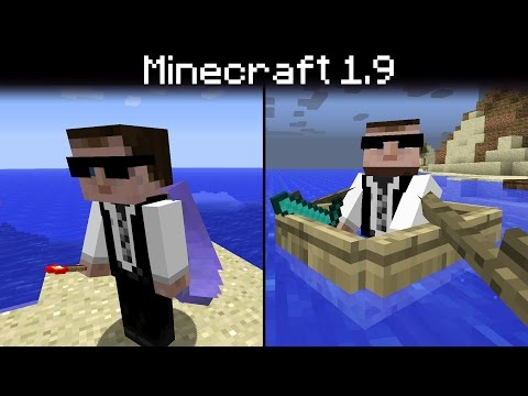 Minecraft 1.9 - Elytra (Wings / Hang Glider), New Boats, Mob Size Changes