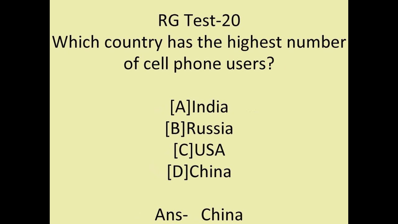 General Knowledge question and answer for competitive ...