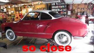 Budget Build vw Karmann Ghia. Finishing it.