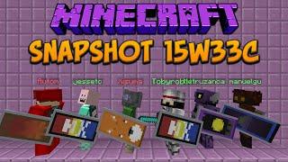 Minecraft 1.9 Snapshot 15w33c Shields, Shields & SHIELDS!!!