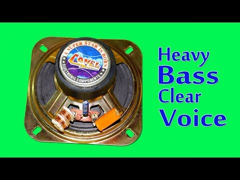 Make Speaker High Bass And Clear Voice
