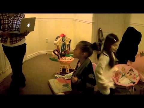 cute girls singing and dancing