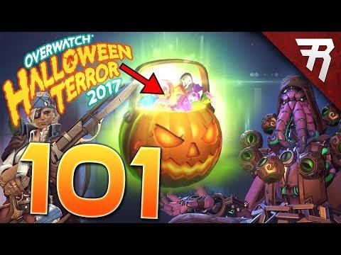 RIGGED?! 100 Overwatch Loot Box Opening - EVERY Halloween Terror Skin!