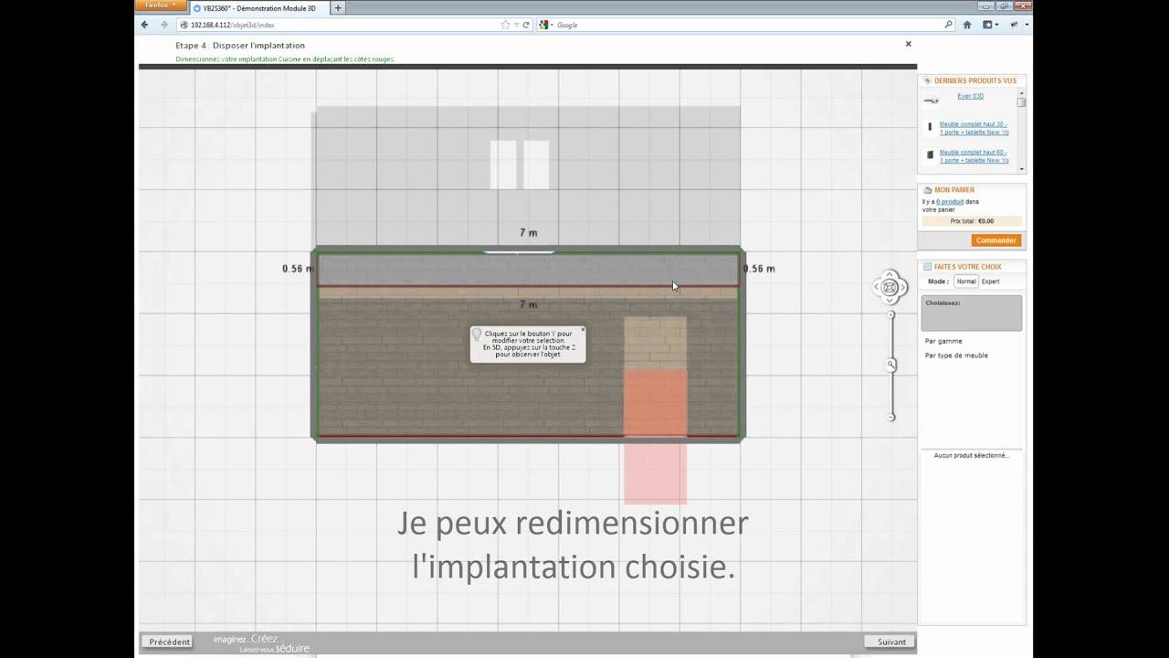 Vb2s360 concevoir ma cuisine avec un assistant youtube for Concevoir ma cuisine