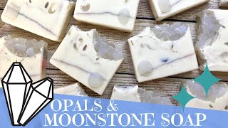 Making Of Opals and Moonstone Cold Process Soap | 💎  GYPSYFAE CREATIONS