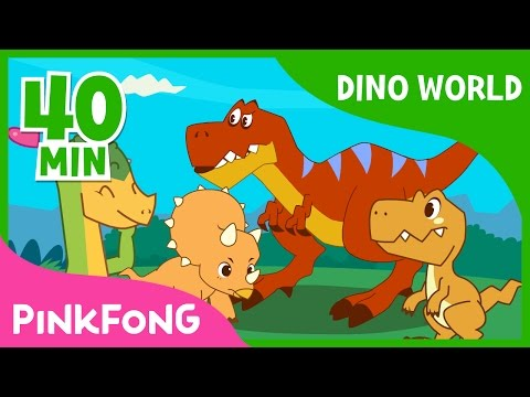 Dino World  TRex and more   +Compilation  Dinosaur Musical  Pinkfong Stories for Children