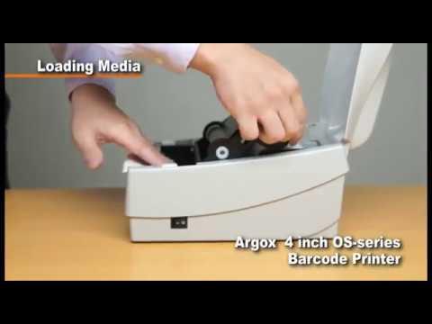 Impressora Argox OS 214 Plus - Como colocar ribbon e etiqueta