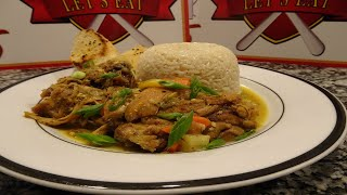 How To Make Curry Chicken (Caribbean or Moroccan Style) with White Rice & Garlic Bread