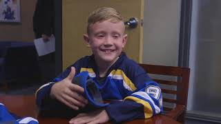 Young Blues Fan Signs One-Day Contract