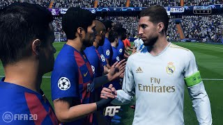 FIFA 20 | FC Barcelona vs Real Madrid | UEFA Champions League