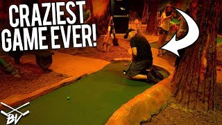 THE CRAZIEST GAME OF MINI GOLF EVER! - LUCKY HOLE IN ONES AND CRAZY SHOTS!