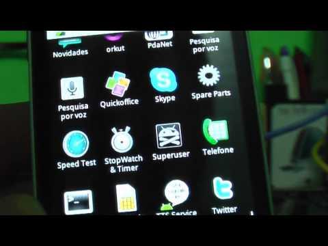 Motorola Backflip funcionando com Android 2.1
