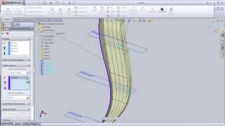 11- SolidWorks beginner TUTORIAL: GUIDED LOFTED BOSS (ADVANCED)