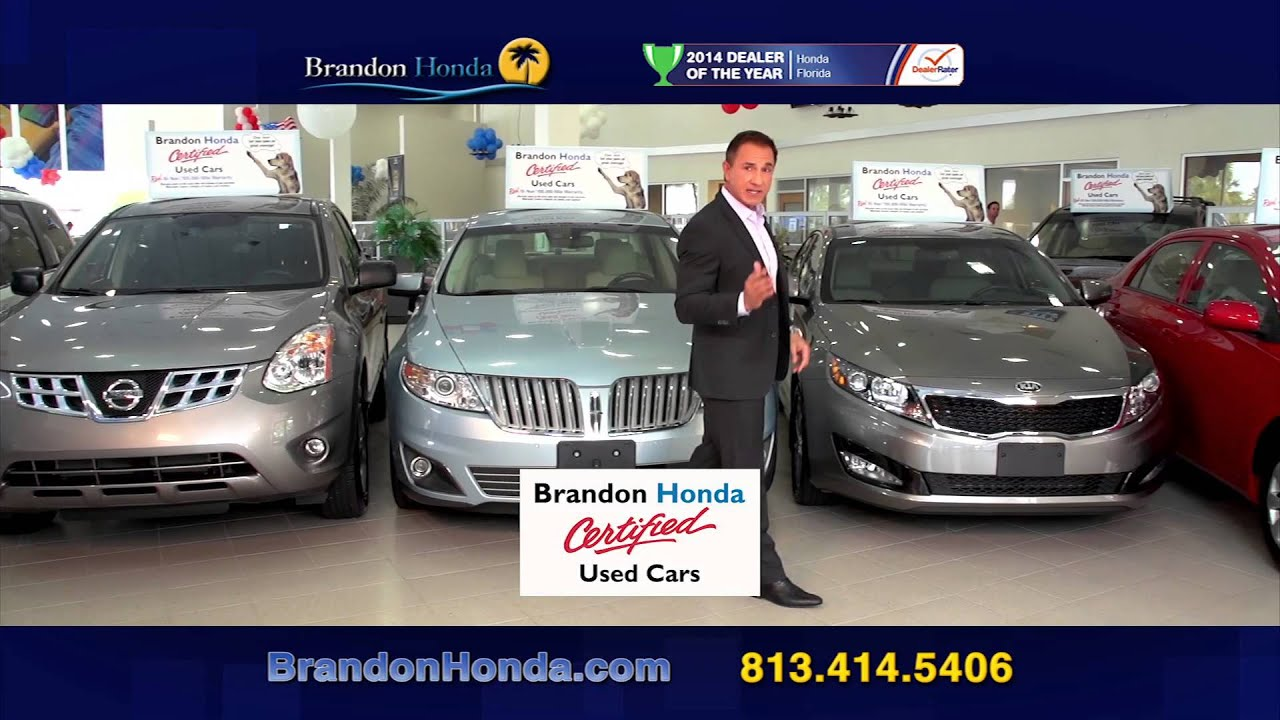 brandon honda 10 year 100 mile warranty youtube