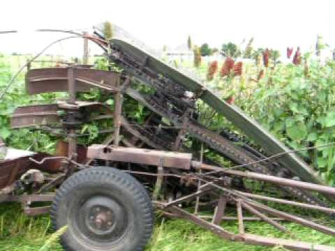 Tractor Driven Corn Binder Youtube