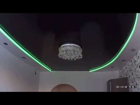 Потолок двухуровневый с натяжной с подсветкой своими руками