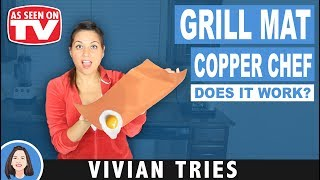 BEST GRILL MAT REVIEW COPPER CHEF | TESTING AS SEEN ON TV PRODUCTS | VIVIAN TRIES