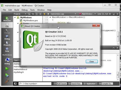 C++ Qt 05 - Displaying Windows