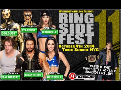 RINGSIDE FEST 2014 WWE Divas/Superstars Bella Twins, Roman Reigns, Dean Ambrose, Goldust & Stardust