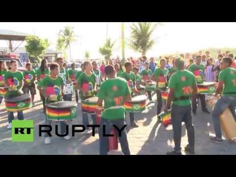 Brazil: Fans welcome German team in Porto Seguro