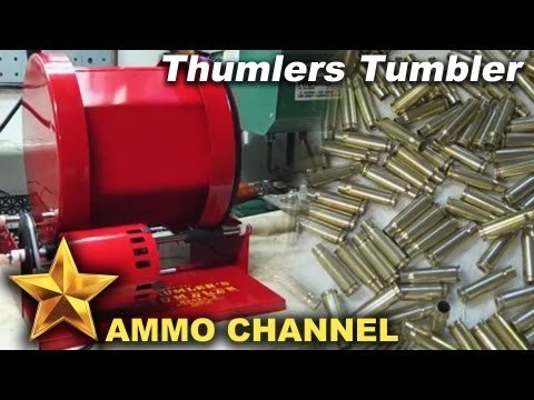 Thumlers Tumbler with Stainless Steel Media - Bullet Case cleaning