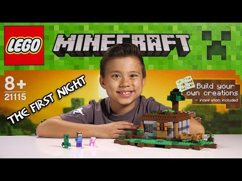 LEGO MINECRAFT - Set 21115 THE FIRST NIGHT - Unboxing. Review. Time-Lapse Build