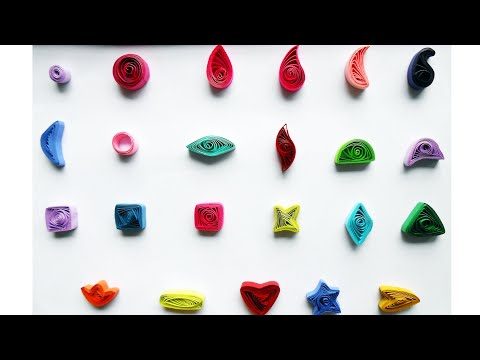 How to Make Basic Quilling Shapes - Tutorial Part 1 for Beginners