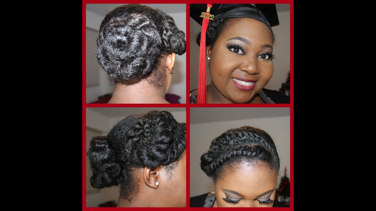 natural hairstyles with marley hair : Natural Hairstyle for Graduation - YouTube