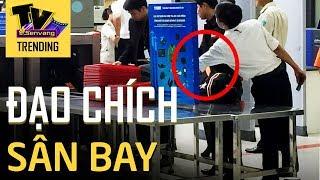 Camera an ninh Nội Bài 'bắt tận tay' nhân viên hàng không trộm đồ