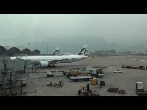 HD!!! Hong Kong Airport Chek Lap Kok Action featuring Cathay Pacific Airliners