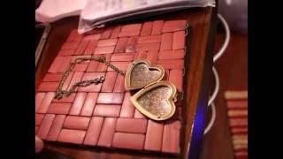 buyincoins New Hot Woman Man Couple Unisex Bronze Heart Friend Photo Picture Frame Locket
