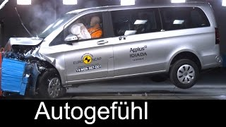 Mercedes V-Class V-Klasse 2015 crash test & ESC test - Autogefühl